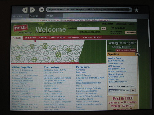 Staples.com on OLPC