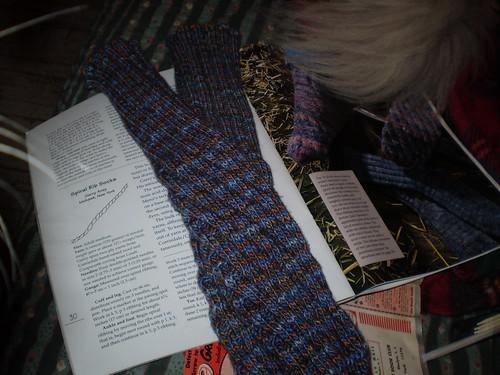 Spirial Rib Socks