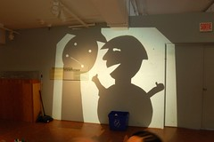 Shadow Puppets projected