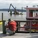 Dredging barge and maintenance craft
