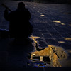 misa del gallo (nevertorun) Tags: barcelona street musician music reflection pool dark spain guitar catalonia musical catalunya guitarist streetshot