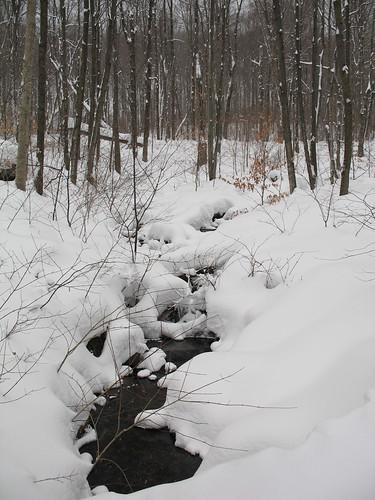 Creek under snow