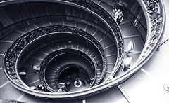 Spirals (` Toshio ') Tags: people italy vatican rome building stairs europe catholic artistic religion europeanunion vaticancity toshio flickrsbest 25faves diamondclassphotographer exitstairs