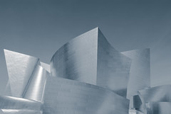 Walt's (aqui-ali) Tags: california ca bw usa metal architecture train losangeles exterior frankgehry gehryx tdelaney aquiali:a=1 fstoppedblog
