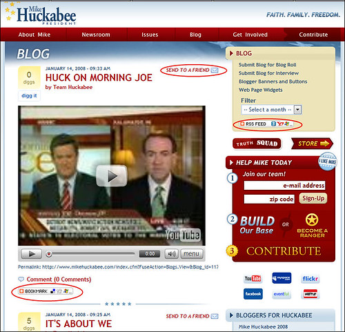 Mike Huckabee's Presidential Campaign Blog