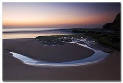 Circular (The Sage of Shadowdale) Tags: ocean longexposure morning sky reflection beach water sunrise d50 moss sand marine rocks colours australia pacificocean nsw aquatic shape 1855mmf3556g headland warriewood rockshelf turimetta