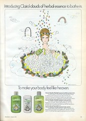 Clairol Clouds of Herbal Essence (twitchery) Tags: flowers vintage hair bath hippy bubbles shampoo 70s herbal vintageads clairol vintagebeauty