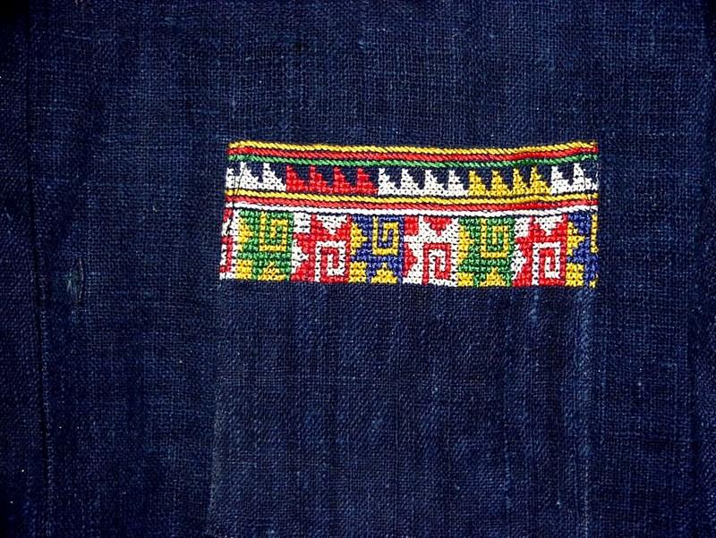 Hmong Cross Stitching - Shirt Pocket
