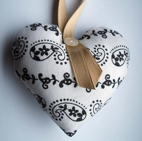 vintage fabric heart