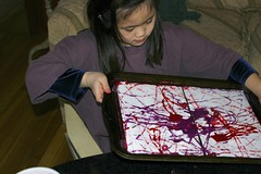 Sophia Doing Marble Painting