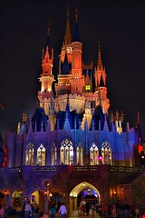 Disney - Cinderella Castle Backside at Night