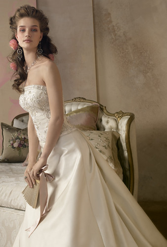 Elegant strapless wedding dress 2010
