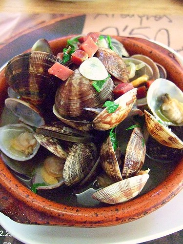 clams in sherry