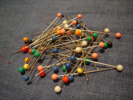 colorful pins