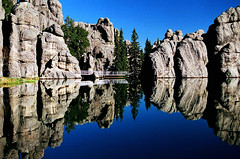 Sylvan Lake, Custer State Park, South Dakota (Yasha Hartberg) Tags: reflections lakes stateparks 50faves 5photosaday impressedbeauty incrediblenature excellentphotographerawards cmwdblue proudshopper llovemypic qualitypixels