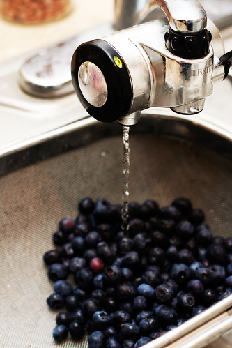 Washing the Blueberries