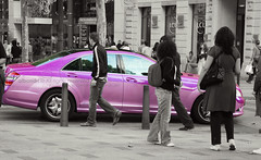 Pink ([  //  QTR) Tags: street pink paris france car out nikon cut champs u loves lyses peopel d80 albandri bntal3nabi 3anooba ayah3alapa3eee