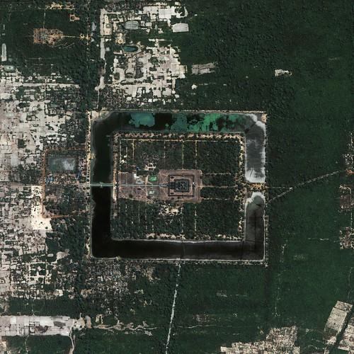 Angkor Vat vue du ciel NASA
