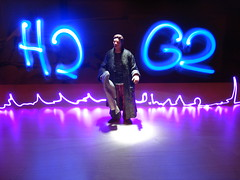 The Hitchhiker's Guide to the Galaxy 42 (eran hakim) Tags: longexposure light toy graffiti h2g2 thehitchhikersguidetothegalaxy stopmotion dontpanic lightwriting arthurdent