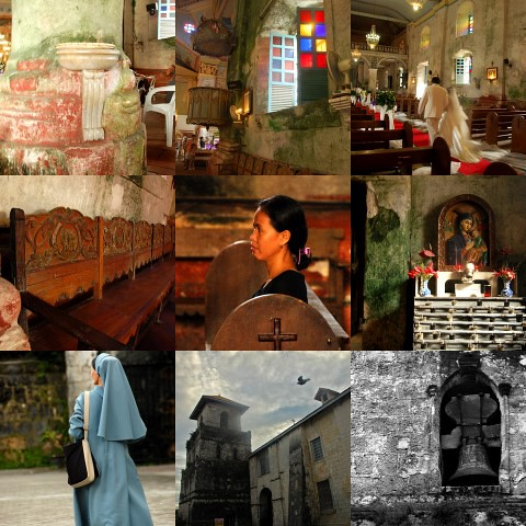 Baclayon Church collage