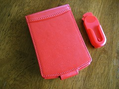 Piel Frama Red Tungsten E Case: Closed w/ Clip