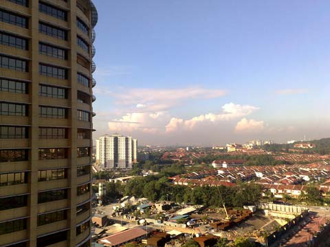 OneWorld hotel @ 1Utama - view from my room, 12th floor