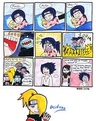 Uchiha Itachi & Sasuke , Kisame , Deidara / Naruto Shippuuden funny comic strip