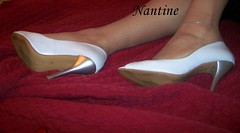 White leather  peep toe 3
