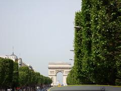Av. Champs-Elysses y arco de triunfo