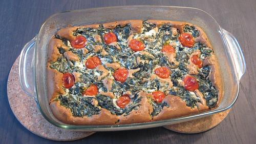Torta Integral de Espinafre e Ricota