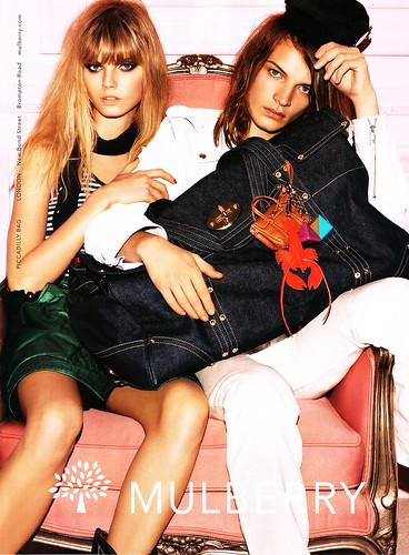 Mulberry S/S 2008: Hanna & Maryna