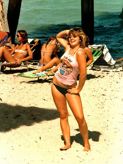 Woman Posing, Dania Beach, 1984