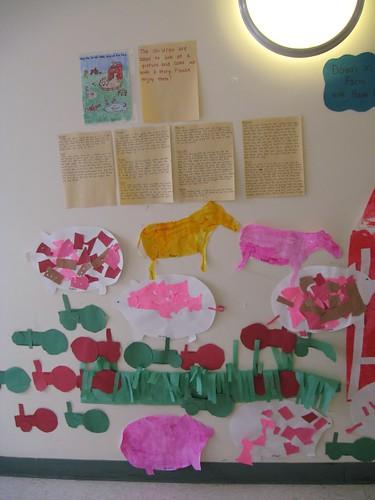 Farm unit display by kids