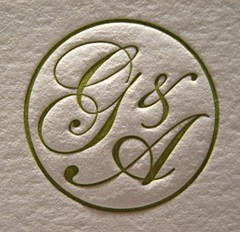 Grace & Arthur Wedding Invitations - Monogram Closeup