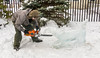 Carving A Sled Dog (John Kocijanski) Tags: odc weatherpermitting ice snow winter streetphotography streetcandid people icesculpture canong15 streetfair streetart sullivancounty wurtsborowinterfest