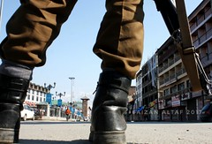 Indian paramilitary soldier stand guard closed market during curfew in Srinagar, Indian controlled Kashmir, Friday, Feb. 10, 2017. Authorities imposed a curfew in some parts of Indian-controlled Kashmir's main city to prevent a protest march to the disput (faizanaltaf) Tags: kpc ajeinpictures restrictions indian nurphotos captivingkashmir wordpress deathanniversary pics reportagespotlinght apimages natgeoyourshot kashmirnow aljazeera afzalguru gettyimages pacaficpress pic photo wordpressphoto picture photos afp guardiantravelssnaps crpf clickbastar dailylifekashmir canadianpressimages dawnweeklyproject