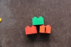 Marbled 2x2s (BF Bricks) Tags: lego abb automatic binding brick early vintage 50s