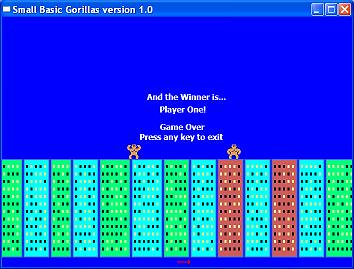 Sample of the week: Gorillas – Small Basic