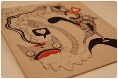 # 1. : This is not a love song. (marine beloir) Tags: cat ghost brain dessin creepy freak bizarre vomit langue fantome dra vomi cervelle lesdoudoux kmilarodz pasclair