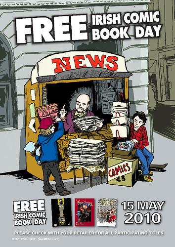 Free Irish Comics Day Poster