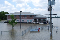Coast Guard Station surrounded by flood waters from Mississippi River (USACE HQ) Tags: coastguard flooding louisiana flood mississippiriver natchez usace usarmycorpsofengineers armyengineers operationwatershed