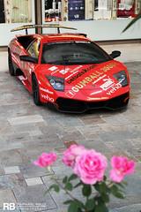 A Lamborghini Or A Couple Of Roses ? (Raphal Belly Photography) Tags: pictures barcelona road wood nyc trip venice red paris london cars car race french rouge photography eos during 1 photo automobile jon riviera photographie good rally picture grand automotive istanbul f1 bull nixon monaco belly prix exotic lp 7d passion only formula week