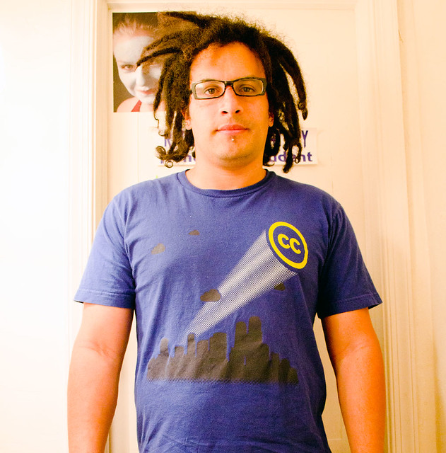 Gubatron wearing another Creative Commons T-Shirt