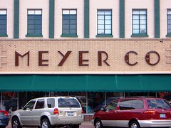 Hastings, MN Meyer Company Department Store sign (army.arch) Tags: downtown historic departmentstore type artdeco mn historicdistrict nationalregister nrhp hastingsminnesota retailsigntypetypographyvintage