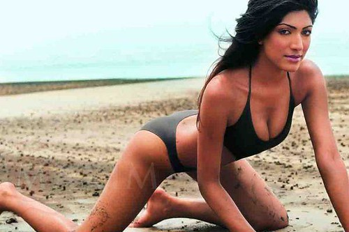South Indian model and actress Sindhura rare bikini photo