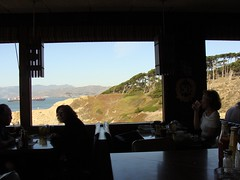View from Louis' (easywriterguy) Tags: sanfrancisco restaurant view diner goldengate