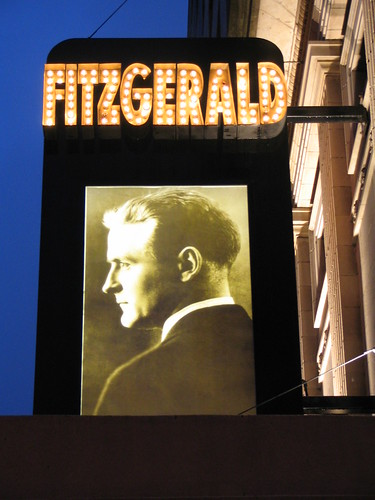 The Fitzgerald Theater (Outside), night of Ann Patchett, author of Bel Canto and Truth & Beauty, St. Paul, Minnesota, October 2007, photo by QuoinMonkey, all rights reserved.