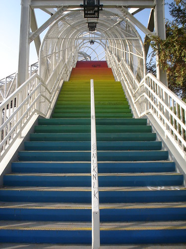 Rainbow Stairs by Bisayan lady.
