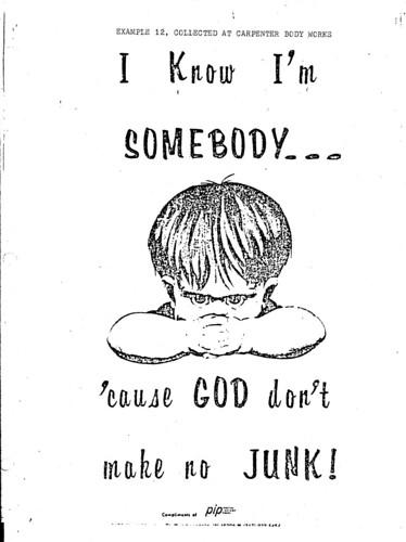 God Don't Make No Junk!