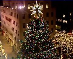 Kerstboom op Rockefeller - screenshot webcam wnbc.com